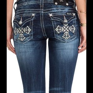 Miss Me JP5918B Boot  Cut Jeans Crosses